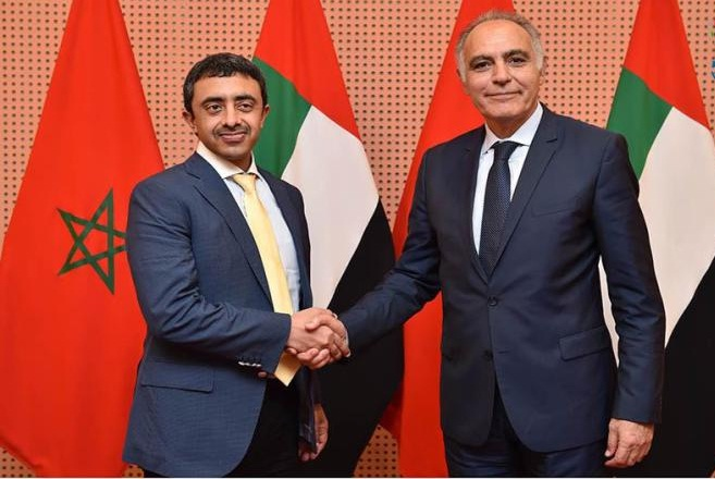 Shaikh Abdullah Bin Zayed Al Nahyan, Foreign Minister, and his Moroccan counterpart Salaheddine Mezouar