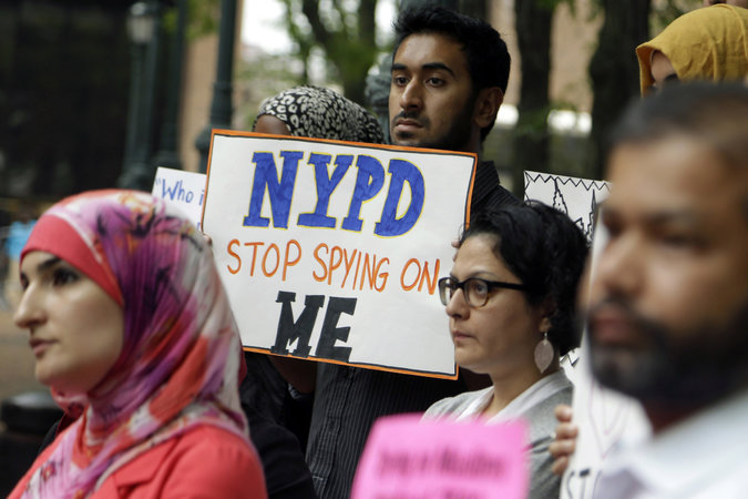 group protested in August 2013, urging the New York Police Department to stop its surveillance of Muslim communities. Credit Seth Wenig/Associated Press