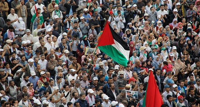Palestine protest in Casablanca