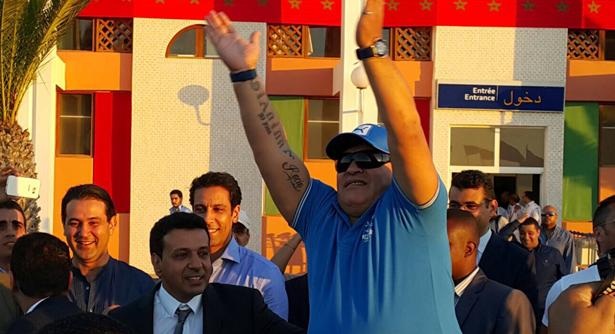 Diego Maradona in Laayoune