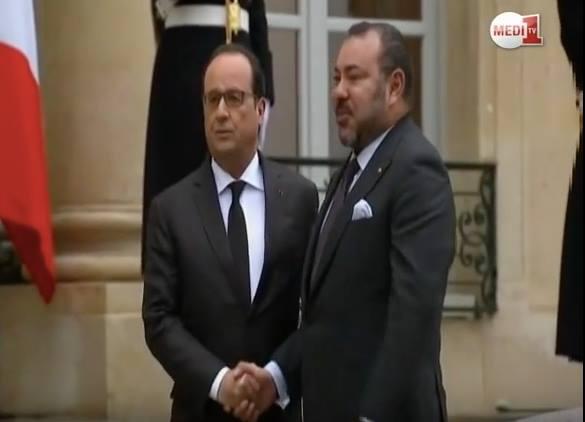 Francois Hollande Receives King Mohammed VI in Paris