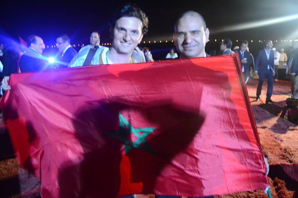Moroccan American Jew Joshua Cohen and Morocco World News co-founder Adnane Bennis