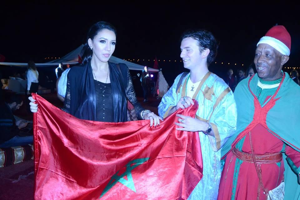 Moroccan singer Asmae Lamnawar and Moroccan American Jew, Joshua Cohen