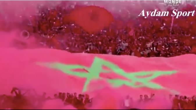 Over 60,000 Fans Sing Moroccan Anthem at Casablanca Stadium