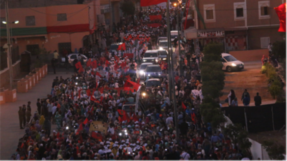 Several thousand Moroccans greet King Mohammed VI in Laayoune