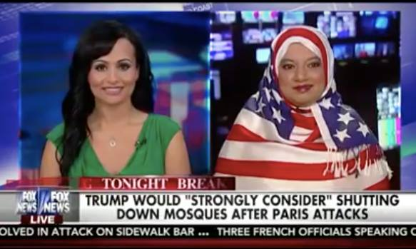 Video: Muslim Woman Wears American Flag Hijab on Fox News