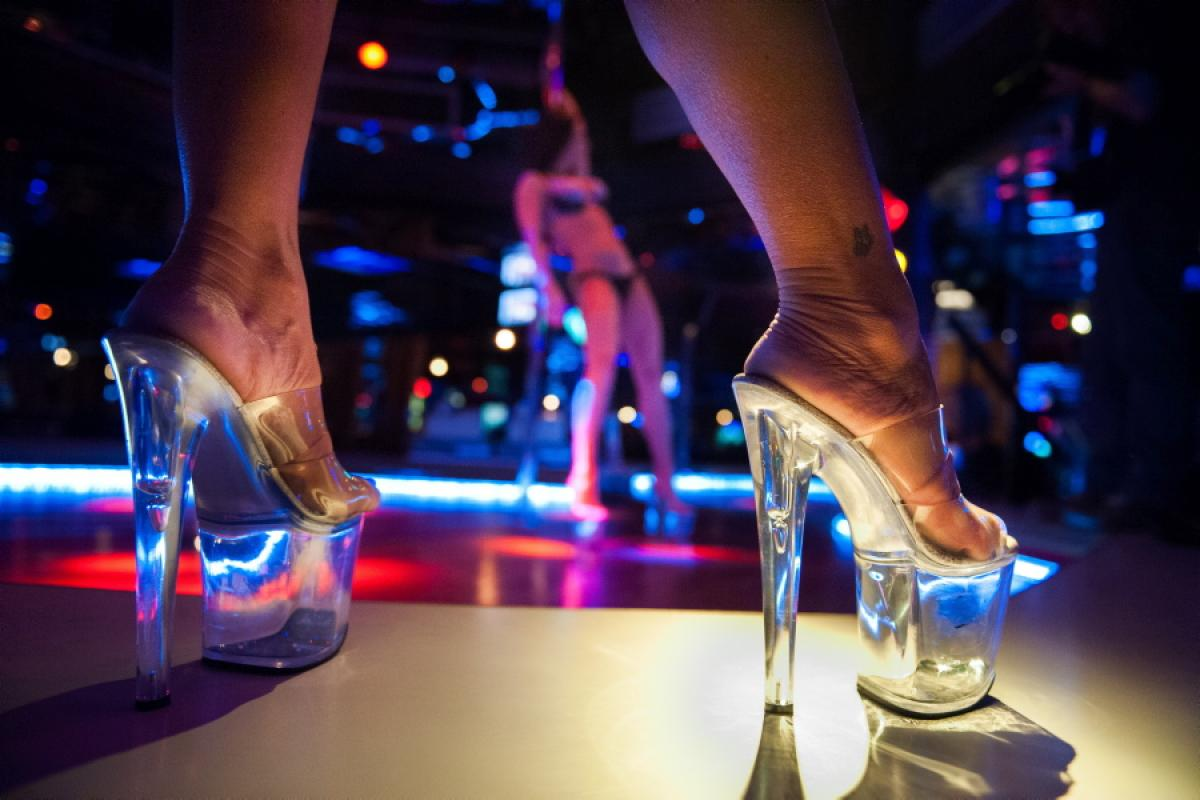 striptease in night club