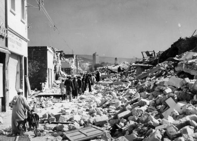 Agadir destroyed in 15 seconds after the earthquake that stroke the city on February 29, 1960