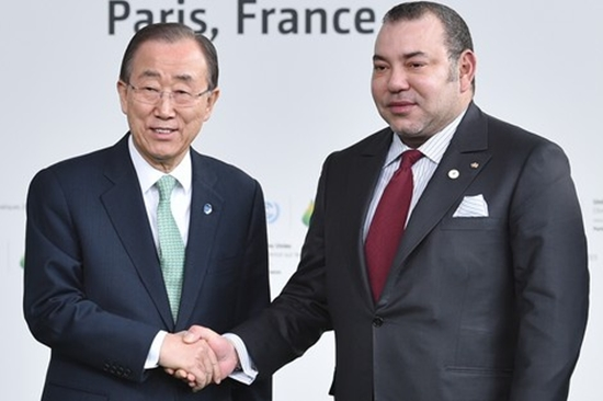 Ban Ki-moon and King Mohammed VI