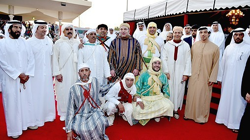 King Mohammed VI in Abu Dhabi