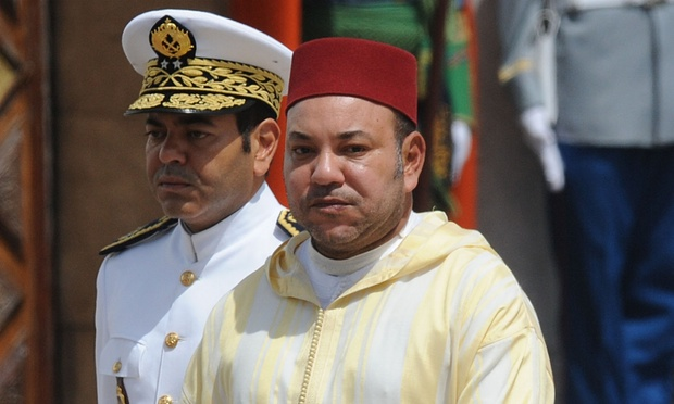 King Mohammed VI of Morocco with his brother, Prince Moulay Rachid. Photograph- Abdelhak Senna:AFP:Getty Images