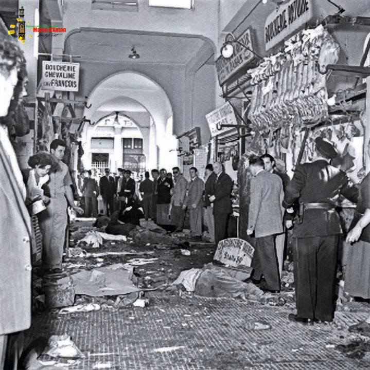 Marché Central of Casablanca became famous, when Mohamed Zerktouni, Moroccan resistant, commits an attack against the French colonists on December 24, 1953.