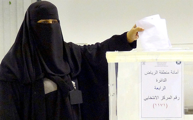 Women in Saudi Arabia Vote for First Time in the Country's History