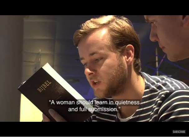 Video: Pranksters Read Passages of the Bible, Telling Them It was the Quran