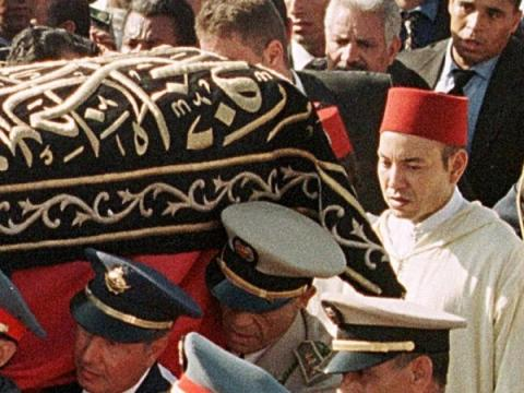 hassan II funerals on Jully 23, 1999. About 2 million Moroccans attended the funerals of the late king Hassan II including world leaders.