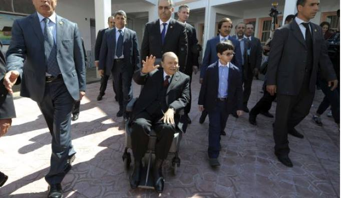 Ailing President Bouteflika in a wheelchair