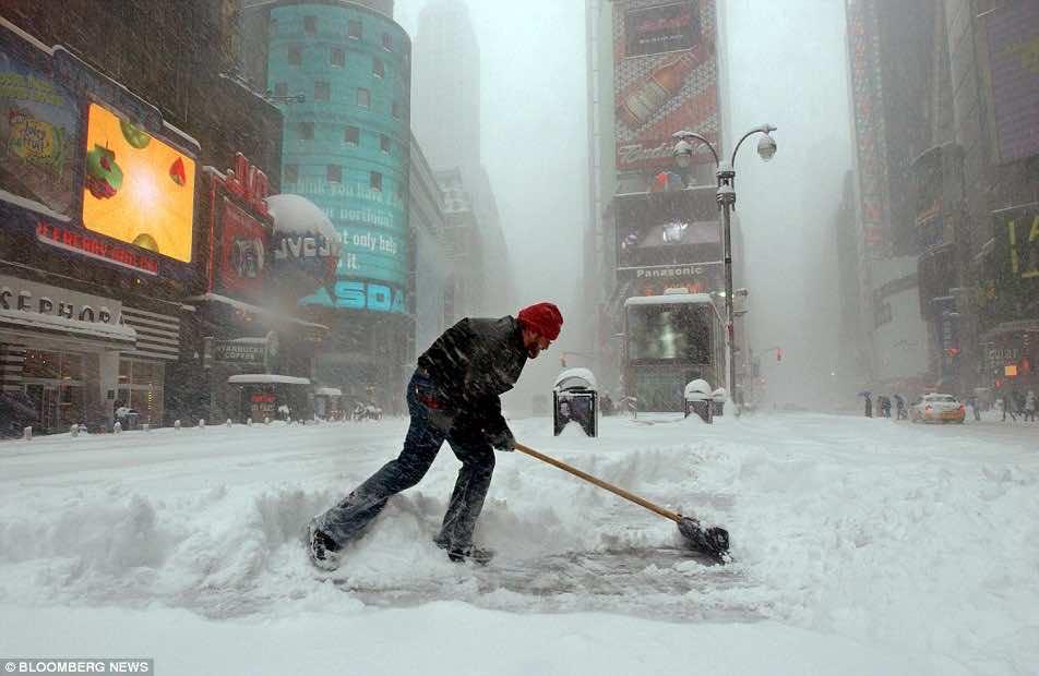 Blizzard in US