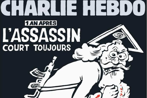 Charlie Hebdo Draws 'God' With a Beard on its Cover in Memory of 2015 Attacks