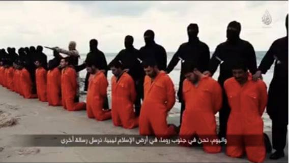 ISIS Islamic militants viciously decapitated 21 Egyptian Christians in Libya on February 2015. (Photo Xinhua/Zumapress.com)