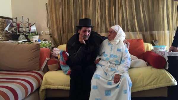 Larbi Assaoui and his mother