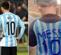 Child Who Wore Messi Plastic Bag Shirt to Meet His Hero