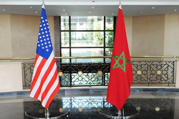 Moroccan American flags