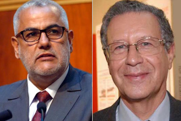Morocco's Head of Government, Abdelilah Benkiran, and his Minister of National Education and Vocational Training, Rachid Belmokhtar.