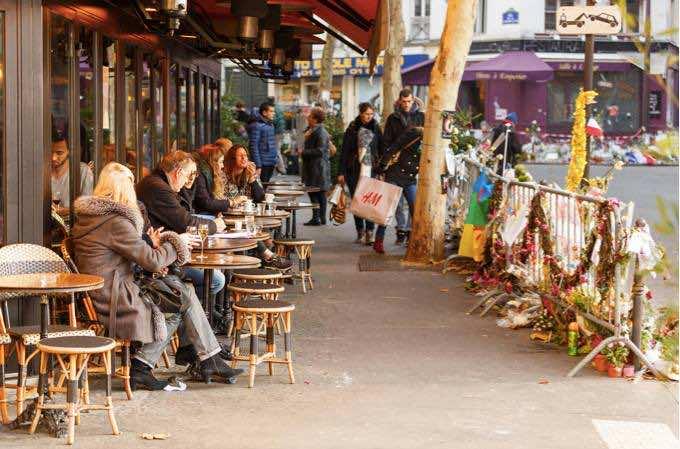 Paris celebrating defiantly life after November 13, 2015 terrorist attacks