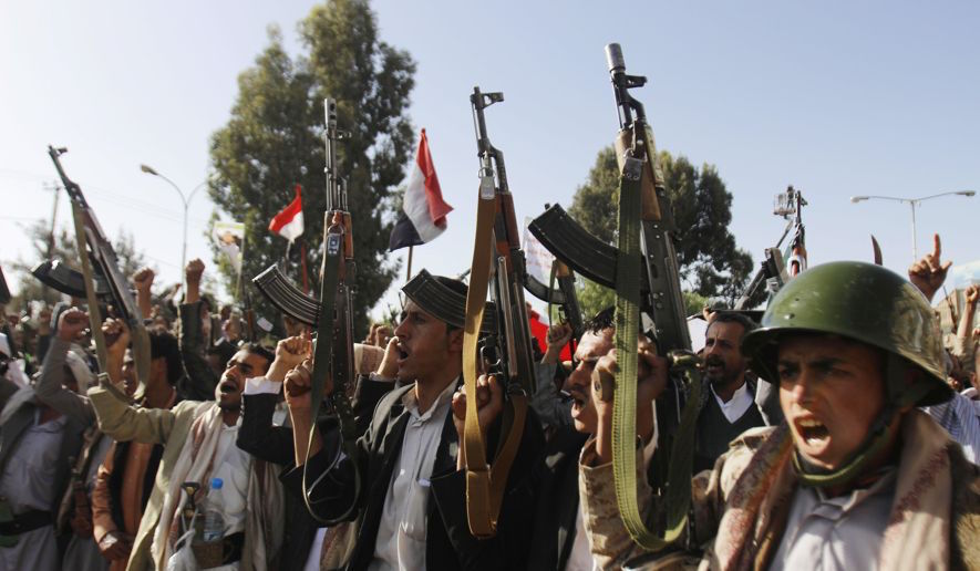 Rebel Shiite Houthis in arms in Yemen