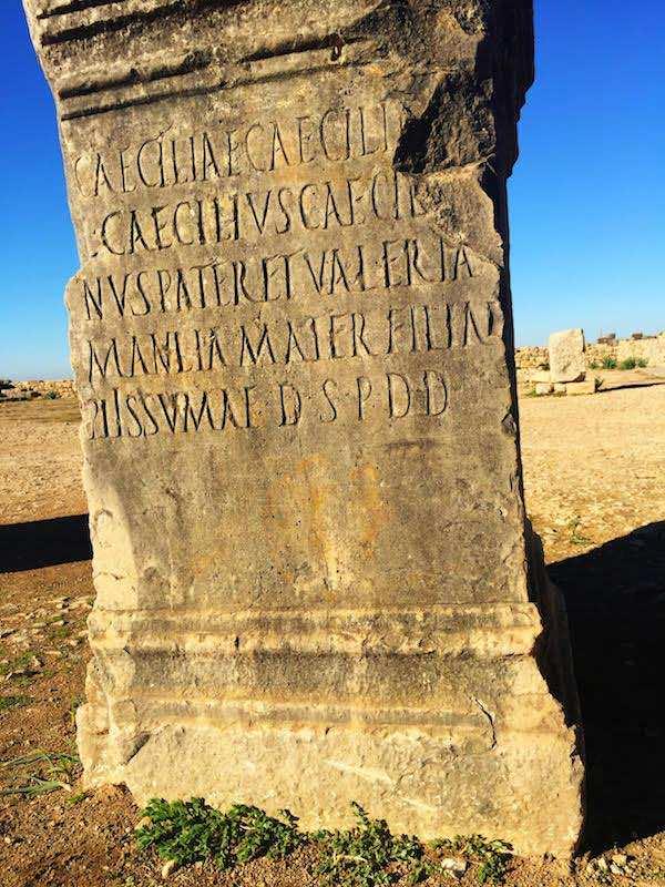 Volubilis: Roman script