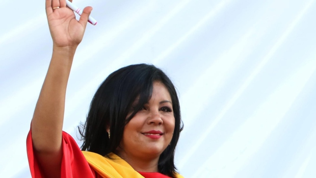 The 33 year old new mayor of Temixco, Morelos state in Mexico, Gisela Mota