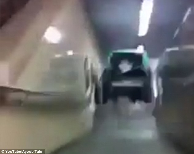 Video: Teenagers Push Car Down Subway Station Stairs