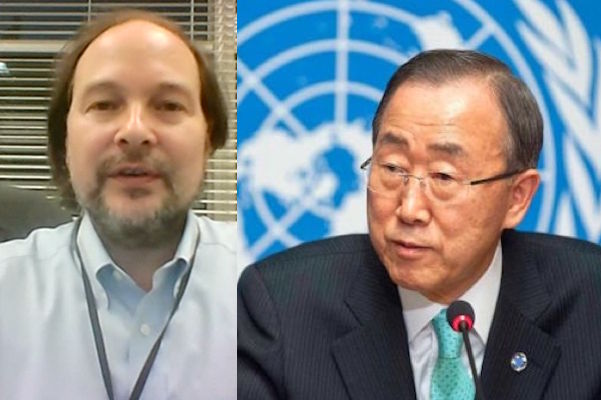 Ban Ki Moon and Matthew Russell Lee