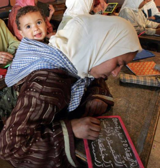 Fighting female illiteracy in Morocco