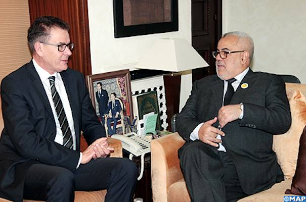 German Minister of Economic Cooperation and Development, Gerd Muller and Benkirane