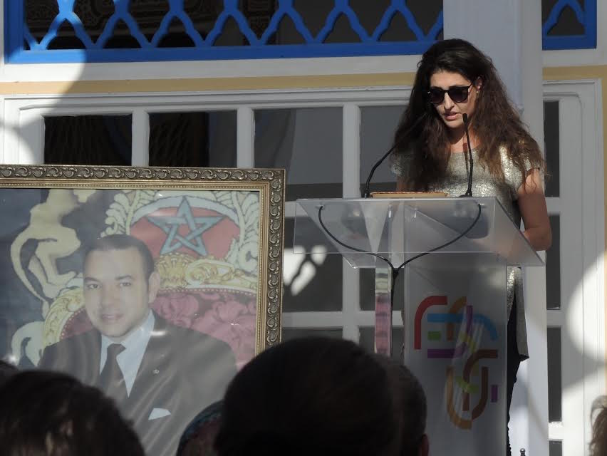Mademoiselle Alaoui talking about her sister Leila Alaoui, famous photographer