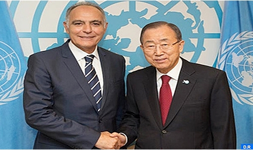 Salaheddine Mezouar and Ban Ki-moon
