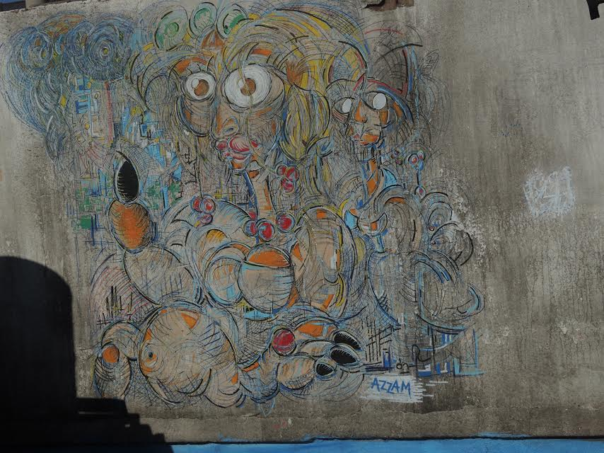 Work of hitcham and Mahdi Azzam at The Parallel Project Street Art opening of LMDENA Collective in Marrakech