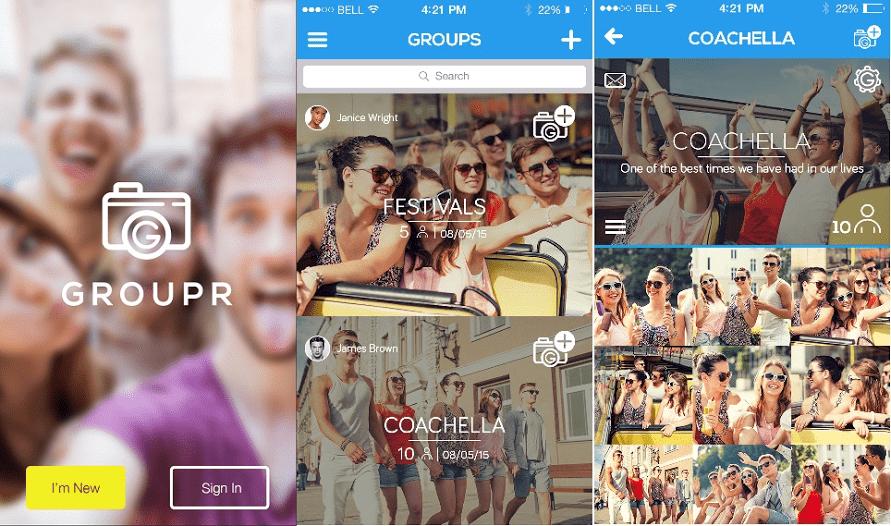 a social photo sharing application 1