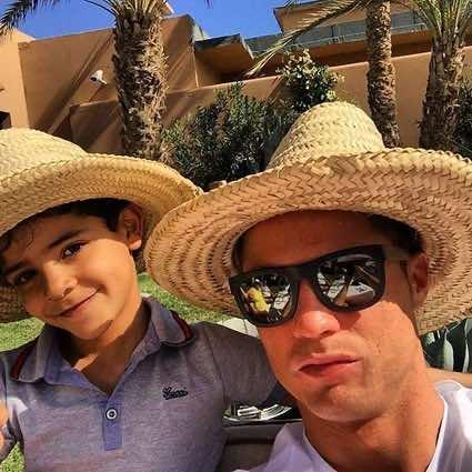Cristiano Ronaldo and His Family in Marrakech