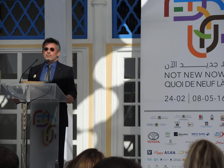 the President of the Biennale Mr Amine Kabbaj