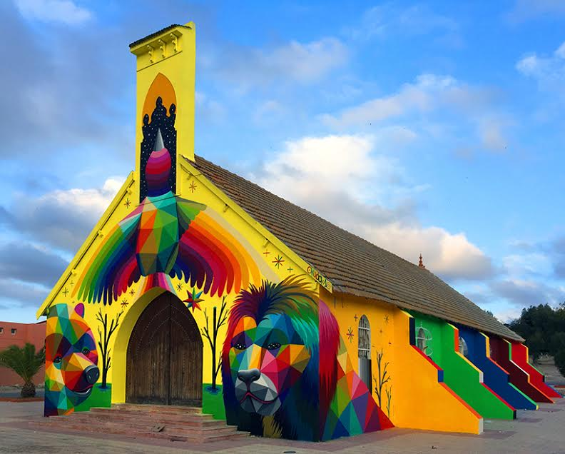 Abandoned Church Near Marrakech Turned into Piece of Art