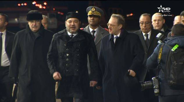 King Mohammed VI Arrives in Moscow