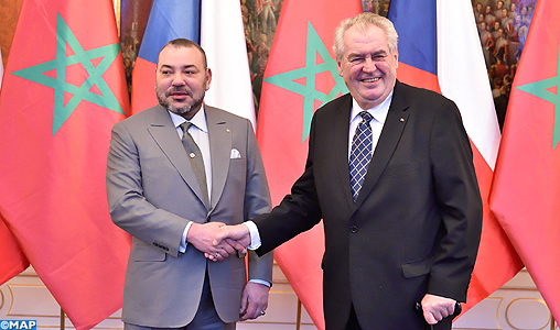 King Mohammed VI with Czech President