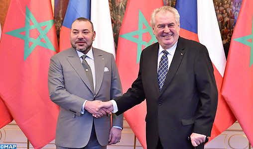 King Mohammed VI with Czech President