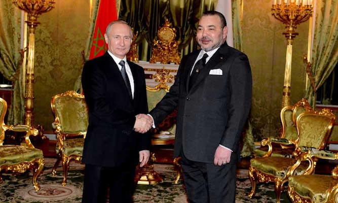King Mohammed VI and Russia President Putin