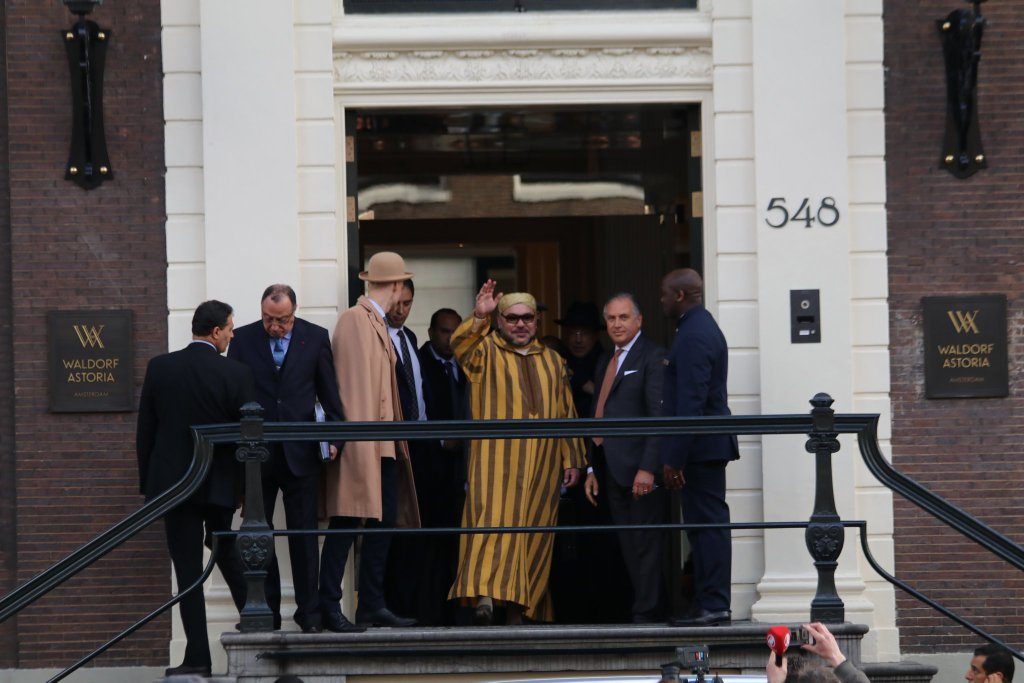 King Mohammed VI in Amsterdam