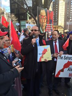Moroccan Jews protesting in New York against Ban Ki-moon's statements