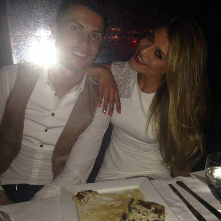 Moroccan model Amal Saber with Cristiano Ronaldo