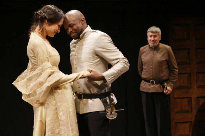 Othello with his wife Desdemona